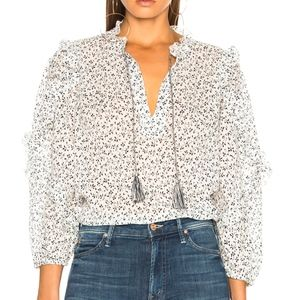 Ulla Johnson Lillian floral print blouse Sz 6